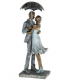 Rainy Day Romance Loving Couple Standing Under an Umbrella 55632